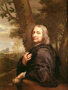 Portrait of Philippe de Champaigne, 1668 (oil on canvas)
