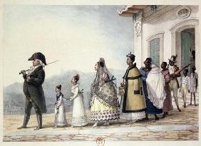 A Government Employee Leaving Home with his Family and Servants, from 'Voyage Pittoresque et Histori 1832