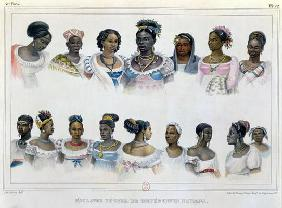 Black Slaves from Different Nations, from 'Voyage Pittoresque et Historique au Bresil', engraved by 1838