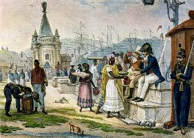 Early Evening Refreshment in the Praca do Palacio, Rio de Janeiro, illustration from ''Voyage Pittor
