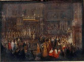 Coronation of Louis XV (1710-74) 25th October 1722 1735