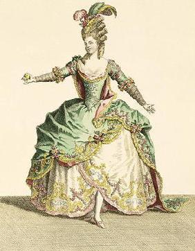 Costume for Venus in several operas, engraved by the artist, c.1780 (engraving) 1863