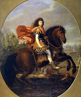 Equestrian portrait of Louis XIV