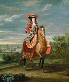 Le Comtesse de Soissons Riding with a View of the Chateau de Vincennes