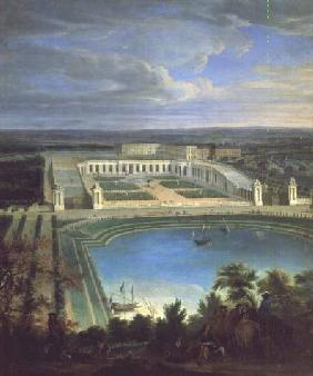 The Orangery and the Chateau at Versailles 1696
