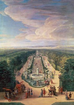 Perspective View of the Grove from the Galerie des Antiques at Versailles 1688