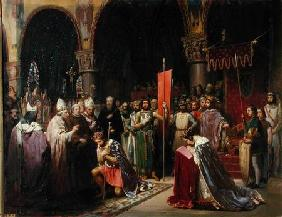 Louis VII (c.1120-1180) the Young, King of France Taking the Banner in St. Denis in 1147 1840
