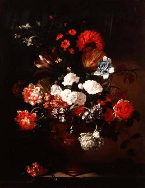 Still Life of Carnations, Tulips, Peonies and Other Flowers