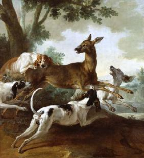 A Deer Chased by Dogs 1725