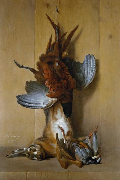 Still Life with a Hare, a Pheasant and a Red Partridge 1753