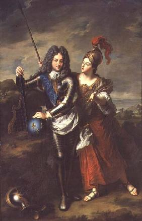 Philippe II d'Orleans (1674-1723) the Regent of France and Madame de Parabere as Minerva c.1716