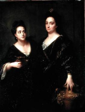 Portrait of Two Actresses 1699