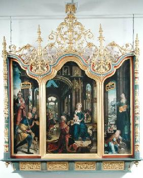 Triptych of the Adoration of the Infant Christ 1529