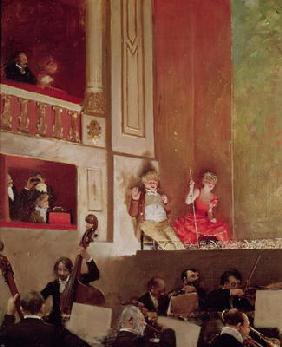 Revue at the Theatre des Varietes, c.1885 (oil on canvas) 1618