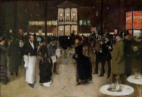 The Boulevard at Night, in front of the Theatre des Varietes, c.1883 (oil on canvas) 07th-