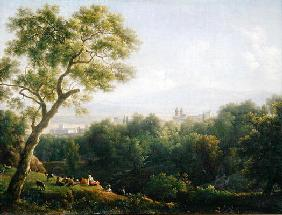 View of Frascati (oil on canvas) 16th