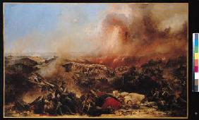 The Battle of Sebastopol, left section of triptych after 1855
