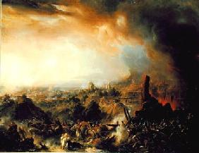 The Burning of Moscow in 1812 1854