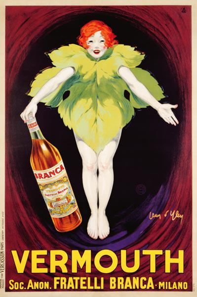 Poster advertising 'Fratelli Branca' vermouth 1922
