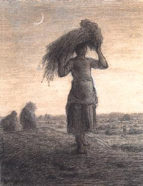 Gleaner returning home with her grain 1857-62