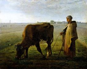 Woman Grazing her Cow 1858