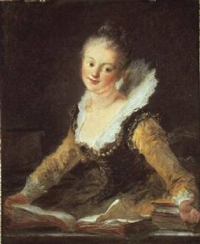 Fragonard, Jean Honor� : The Study, or The Song