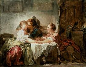 Fragonard, Jean Honor� : The Prize of a Kiss