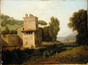 The Casa Cenci in the Borghese Gardens, Rome 1805