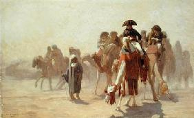 General Bonaparte (1769-1821) with his Military Staff in Egypt 1863 cil a