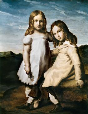 Alfred Dedreux (1810-60) as a Child with his Sister, Elise 19th