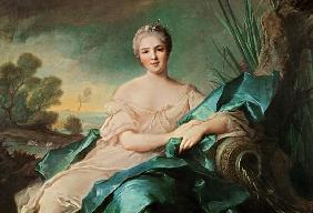 Portrait of Victoire de France as the element Water (oil on canvas) 19th