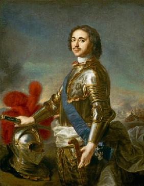 Portrait of Peter I or Peter the Great 1717