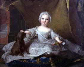 Portrait of Marie-Zephyrine (1750-55) of France with her Dog 1751