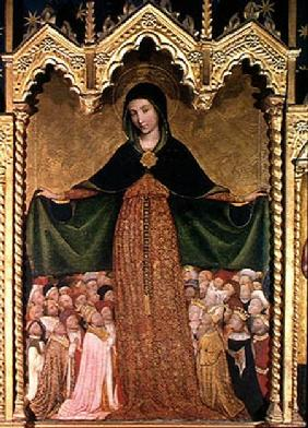 Virgin of the Misericordia, detail of the central panel c.1422
