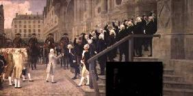 The Reception of Louis XVI at the Hotel de Ville by the Parisian Municipality in 1789 1891
