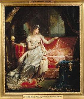 Empress Marie-Louise (1791-1847) and the King of Rome 1812
