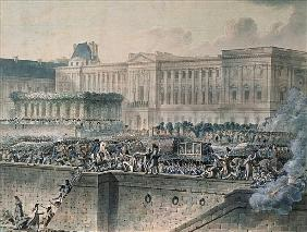 The Arrival of Louis XVI (1754-93) in Front of the Louvre, 17th July 1789