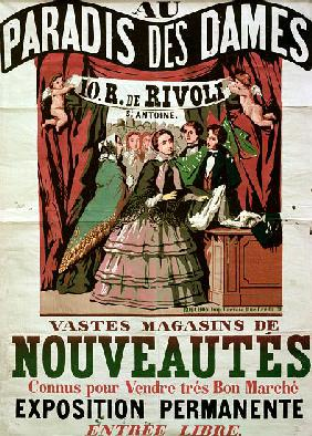 Poster advertising 'Au Paradis des Dames', Parisian shop 1856