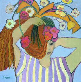 Flowers in Her Hair, 2003-04 (acrylic on canvas)