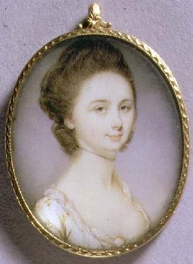 Portrait Miniature of a Lady in a White Dress c.1780-85
