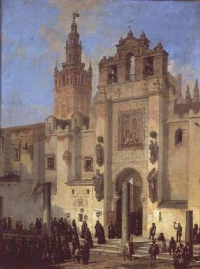 Religious procession in Seville 1853