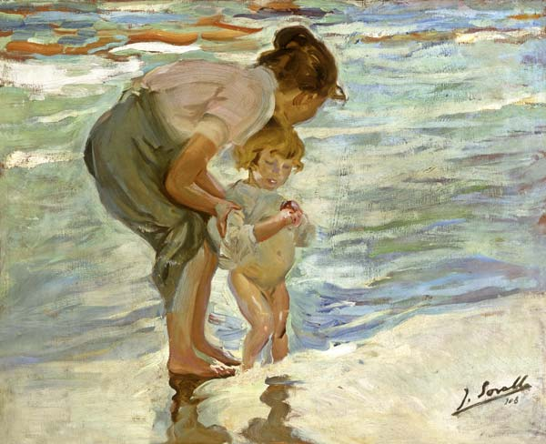 Mutter und kind am strand joaquin sorolla als - Galeria de arte sorolla ...