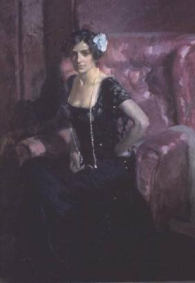 Clotilde in an Evening Dress 1911