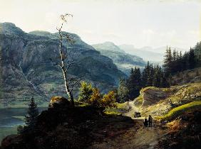 Tal in Valdres. 1845