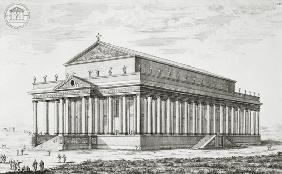 The Temple of Diana at Ephesus, Turkey, from 'Entwurf einer historischen Architektur' 1721
