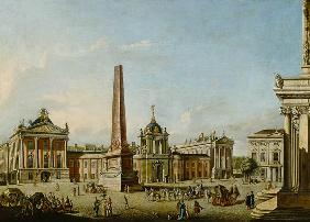 View of the Old Market and the Front Gate of the Schloss Sanssouci 1773