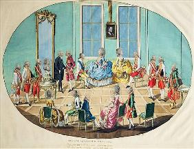 New Year celebration in Vienna in 1782, 1783 (copper engraving with w/c)