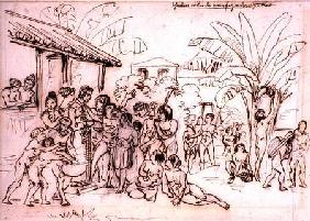Indians visiting an estate, Brazil c.1825  an