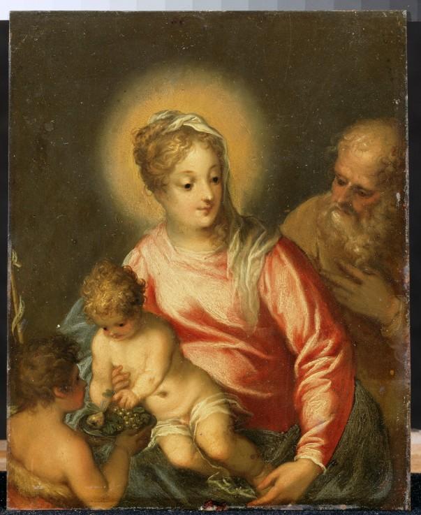 Die heilige familie mit johannesknaben johann rottenhammer als kunstdruck oder handgemaltes - Wandfarbe rottone ...