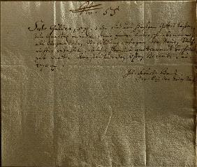 Remuneration Receipt, 17th December, 1704 (pen and ink on paper)